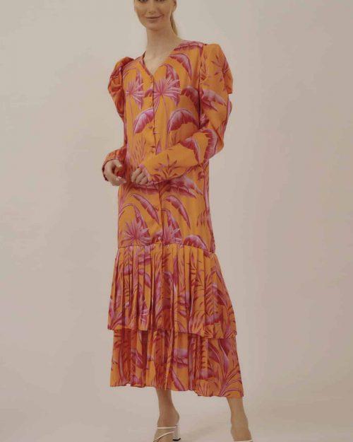 Vestido Botones Plisado - Button Pleaded Dress
