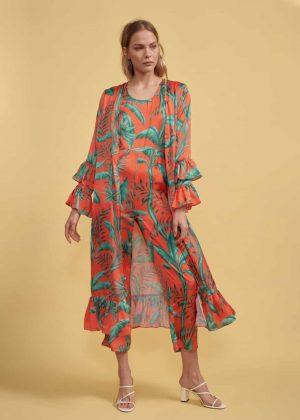 11. Sleeveless Jumpsuit _ Bolero Kimono