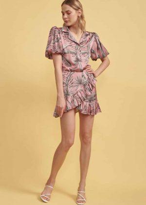 16. Short Sleeve Blouse _ Short Crossed Skirt