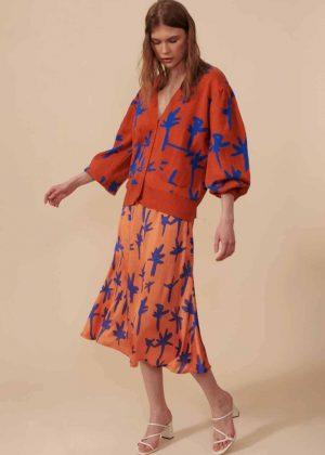Cardigan Tejido-Falda Larga__Cardigan Knitwear - Long Skirt